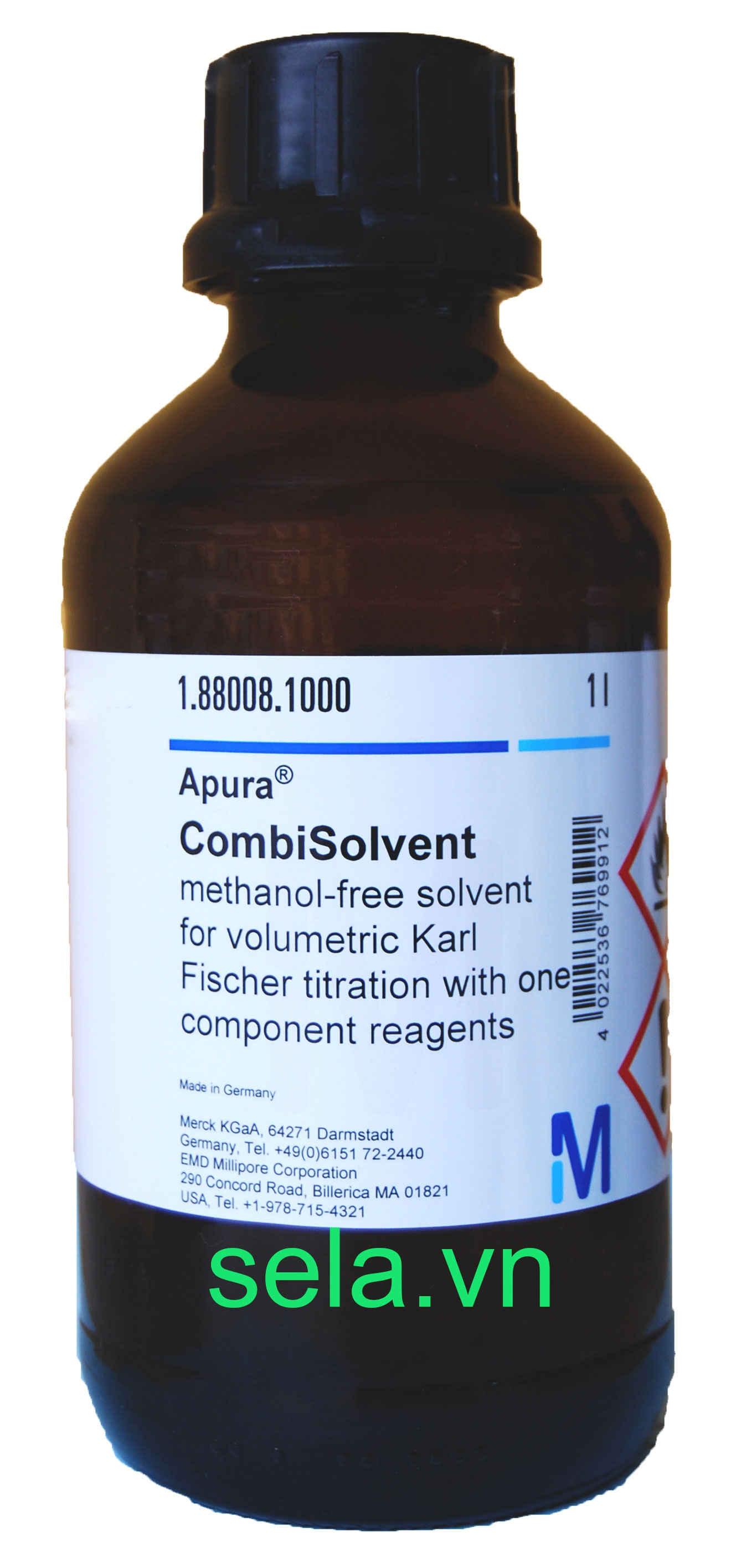 CombiSolvent methanol-free solvent for volumetric Karl Fischer titration with one component reagents Aquastar™